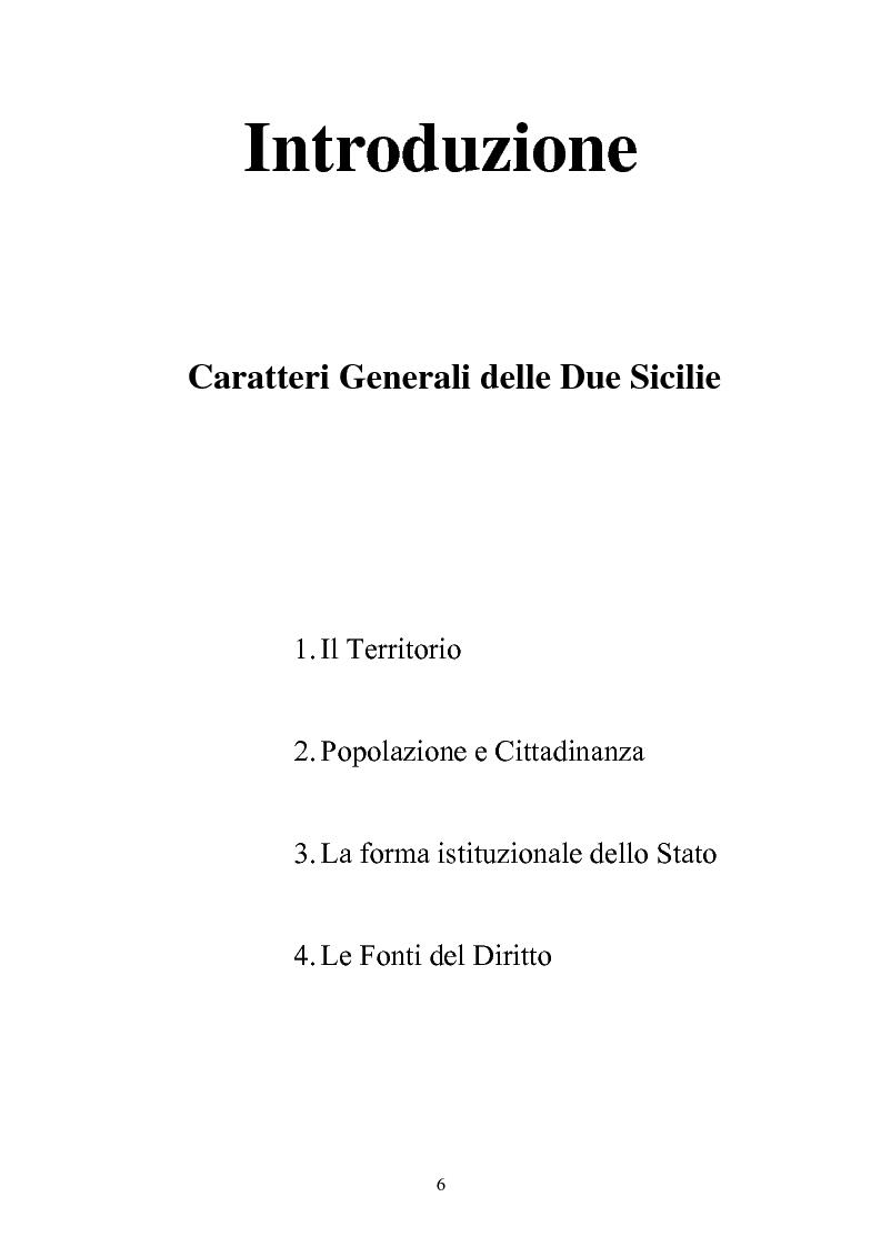 Anteprima della tesi: Le istituzioni politiche ed amministrative nel Regno delle Due Sicilie dal 1815 al 1860, Pagina 3