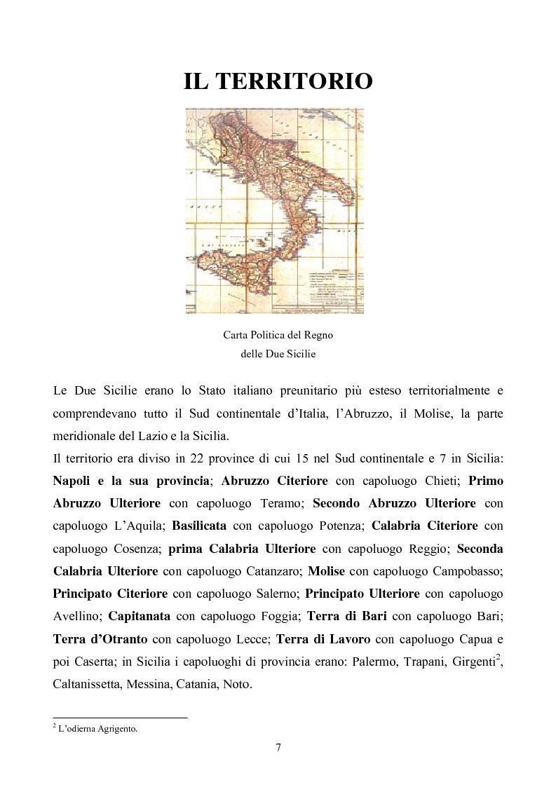 Anteprima della tesi: Le istituzioni politiche ed amministrative nel Regno delle Due Sicilie dal 1815 al 1860, Pagina 4