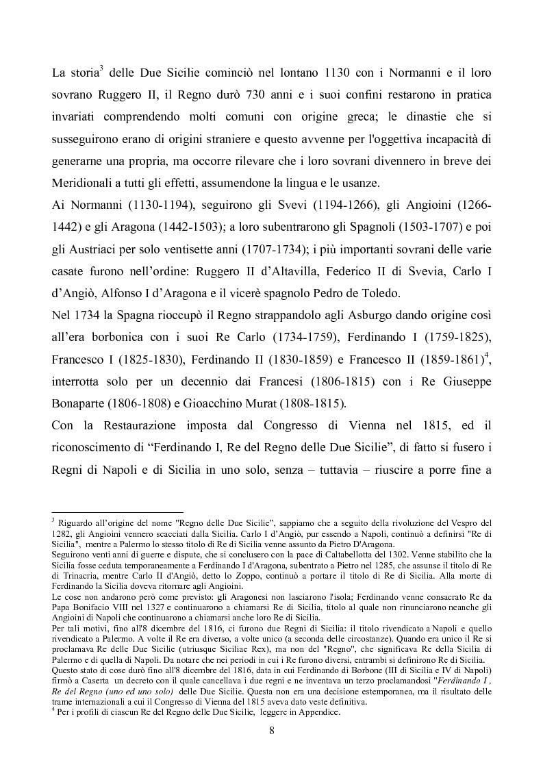Anteprima della tesi: Le istituzioni politiche ed amministrative nel Regno delle Due Sicilie dal 1815 al 1860, Pagina 5
