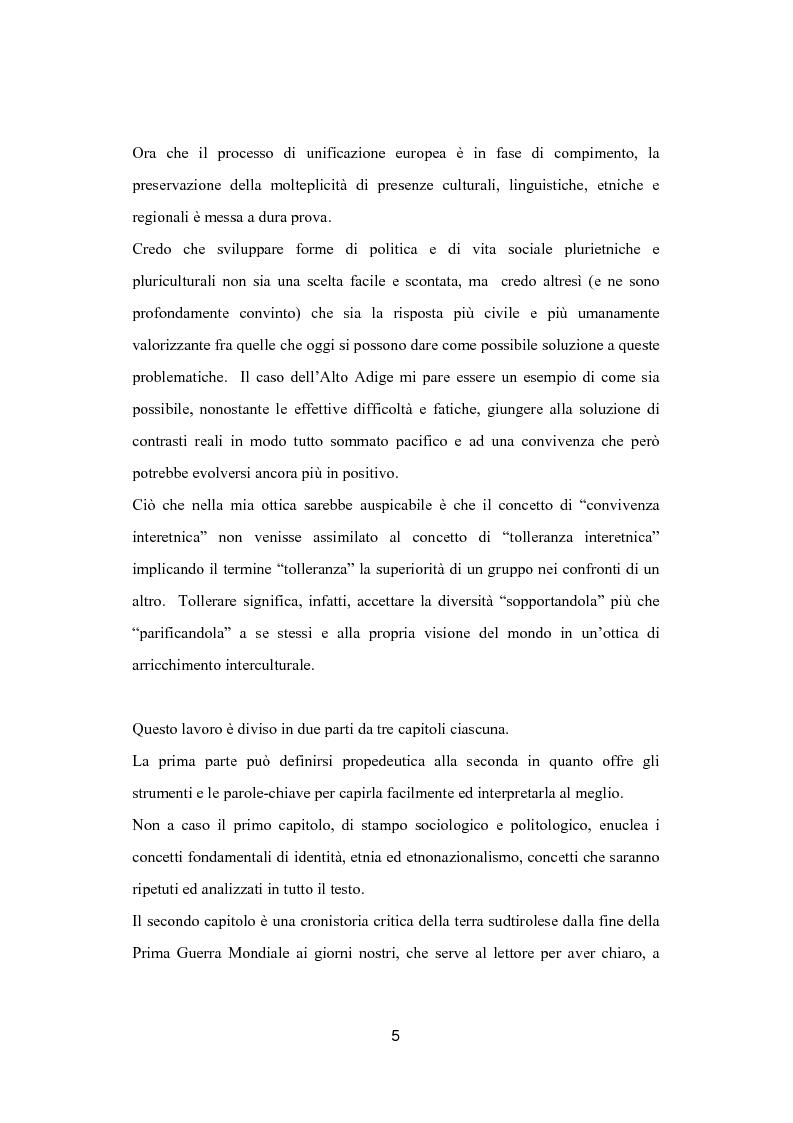 Anteprima della tesi: Euroregione Alto Adige-Suedtirol: un modello di convivenza interetnica in Europa?, Pagina 2
