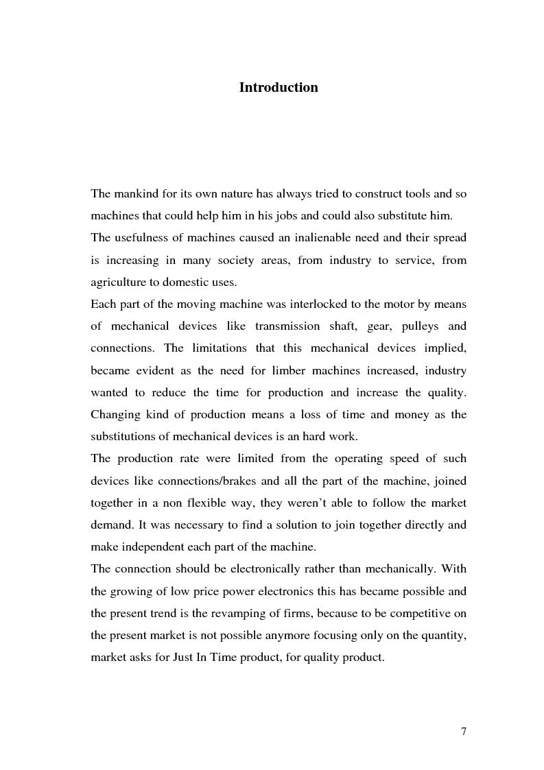 Anteprima della tesi: Programmazione di azionamenti industriali per la gerarchizzazione in albero elettrico, Pagina 4