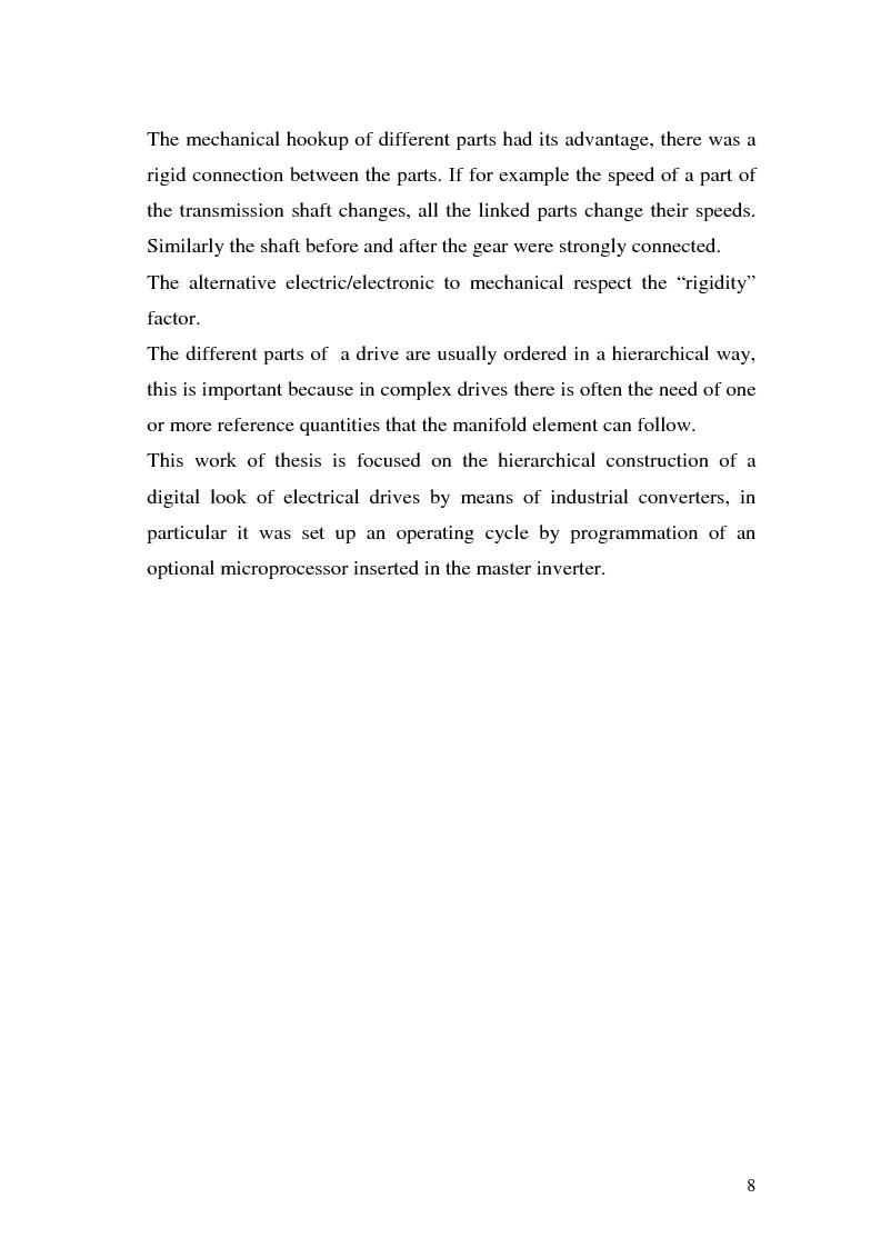 Anteprima della tesi: Programmazione di azionamenti industriali per la gerarchizzazione in albero elettrico, Pagina 5