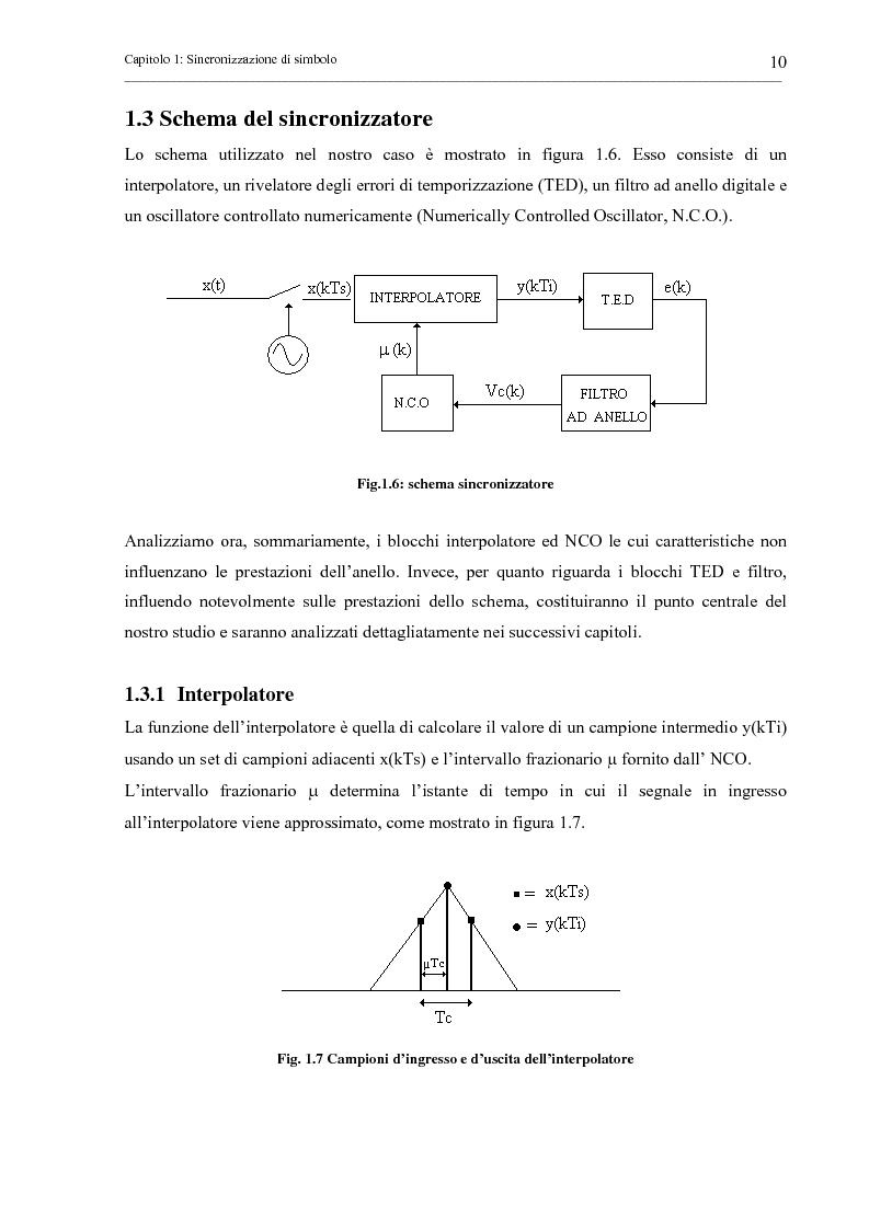 Anteprima della tesi: Tecniche di sincronizzazione di simbolo per modulazioni M-QAM, Pagina 10