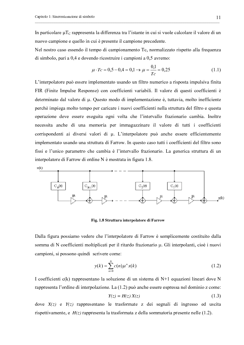 Anteprima della tesi: Tecniche di sincronizzazione di simbolo per modulazioni M-QAM, Pagina 11