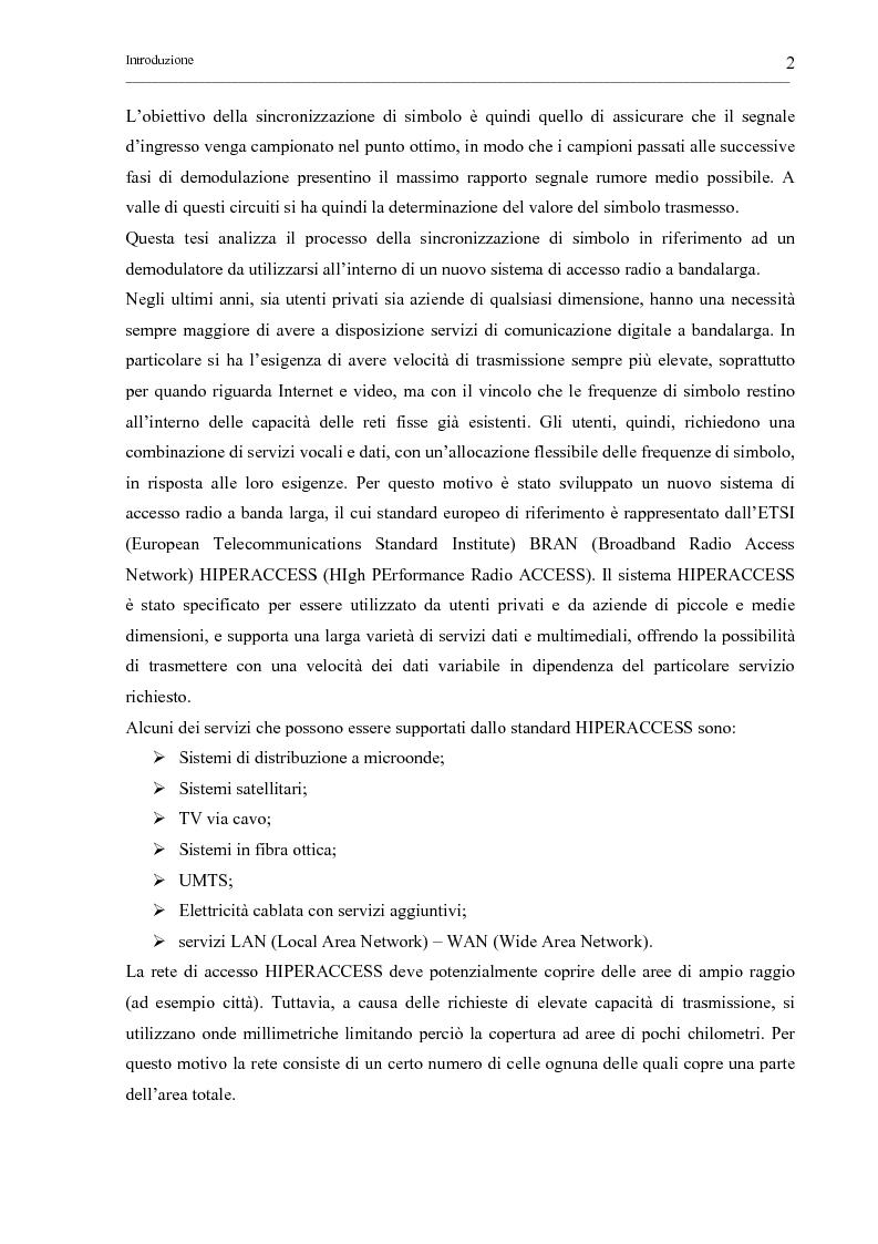 Anteprima della tesi: Tecniche di sincronizzazione di simbolo per modulazioni M-QAM, Pagina 2
