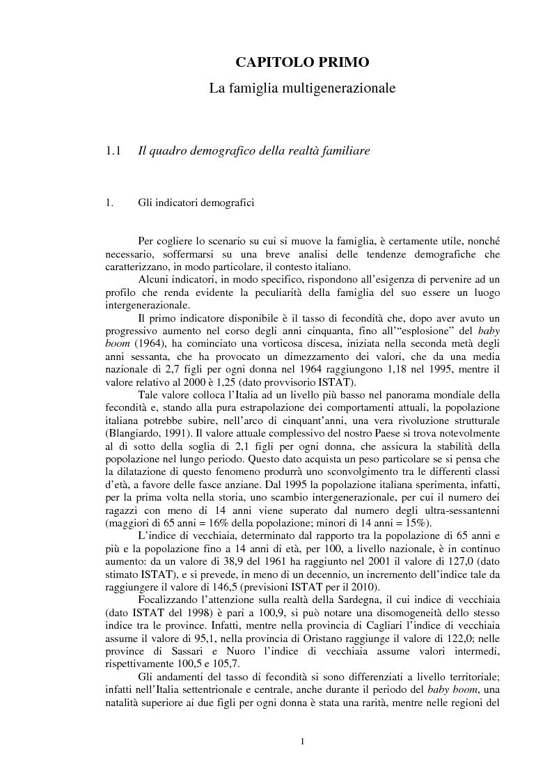 Anteprima della tesi: La relazione intergenerazionale: una ricerca sul legame tra i nonni e i nipoti giovani adulti, Pagina 2