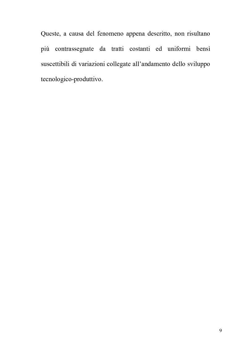 Anteprima della tesi: Orientamenti giurisprudenziali e dottrinali sull'art. 2103 del c.c. in tema di mansioni del lavoratore, Pagina 9