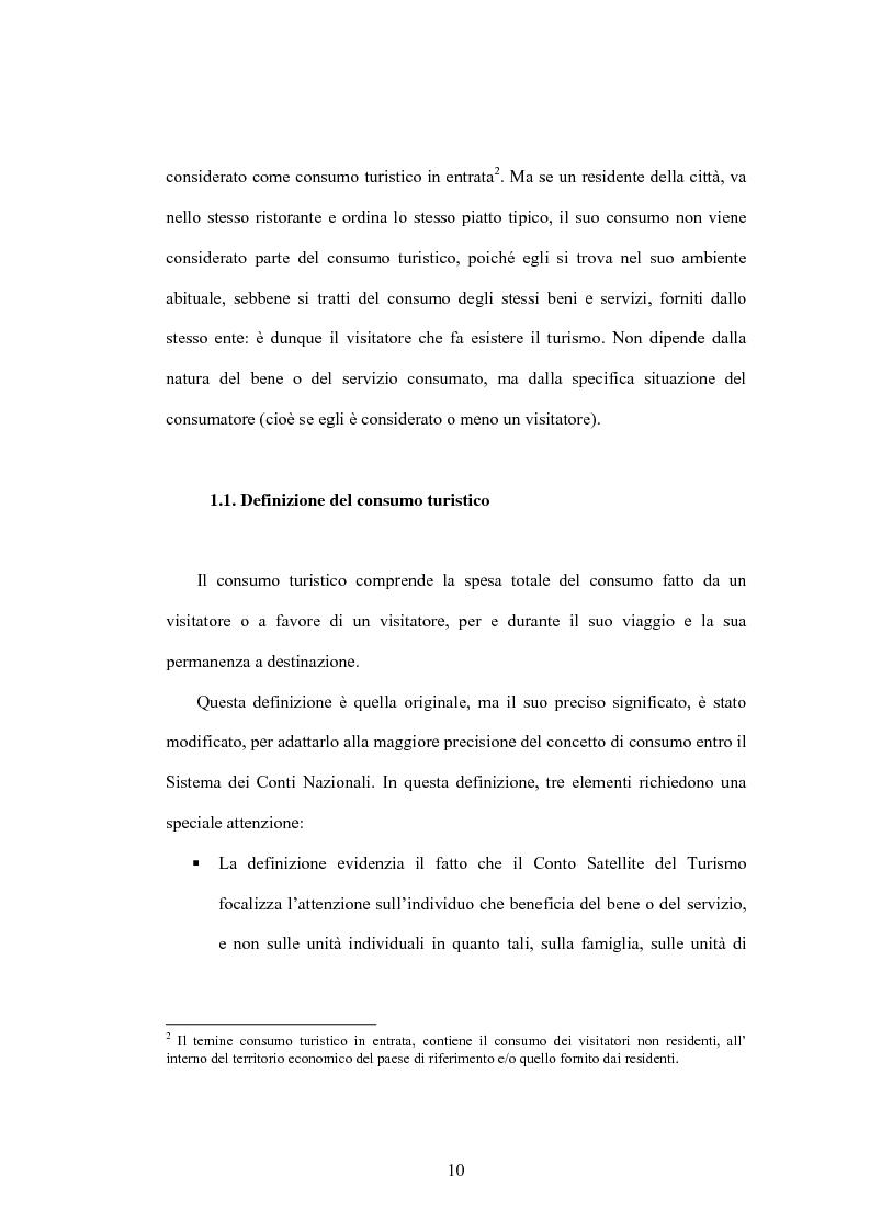 Anteprima della tesi: Lo sviluppo di un Conto Satellite del Turismo, Pagina 10