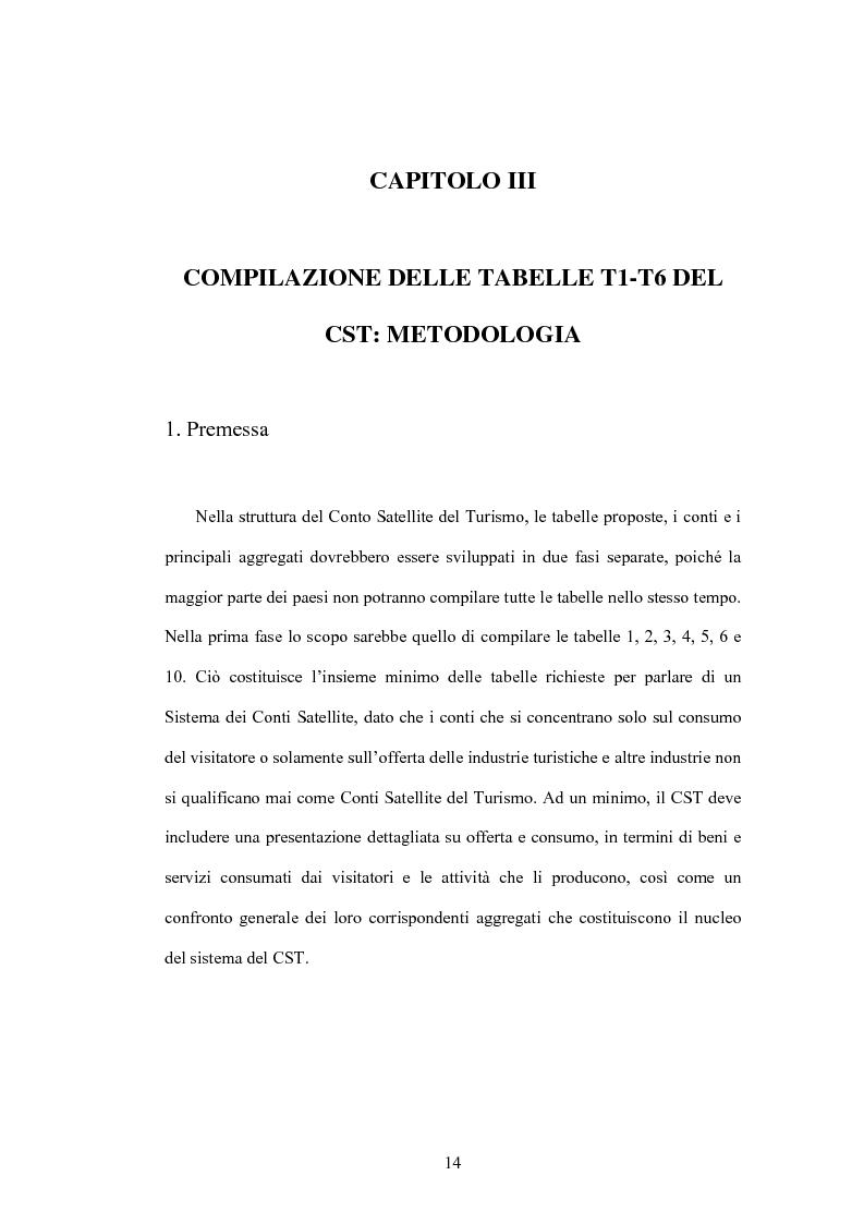 Anteprima della tesi: Lo sviluppo di un Conto Satellite del Turismo, Pagina 14