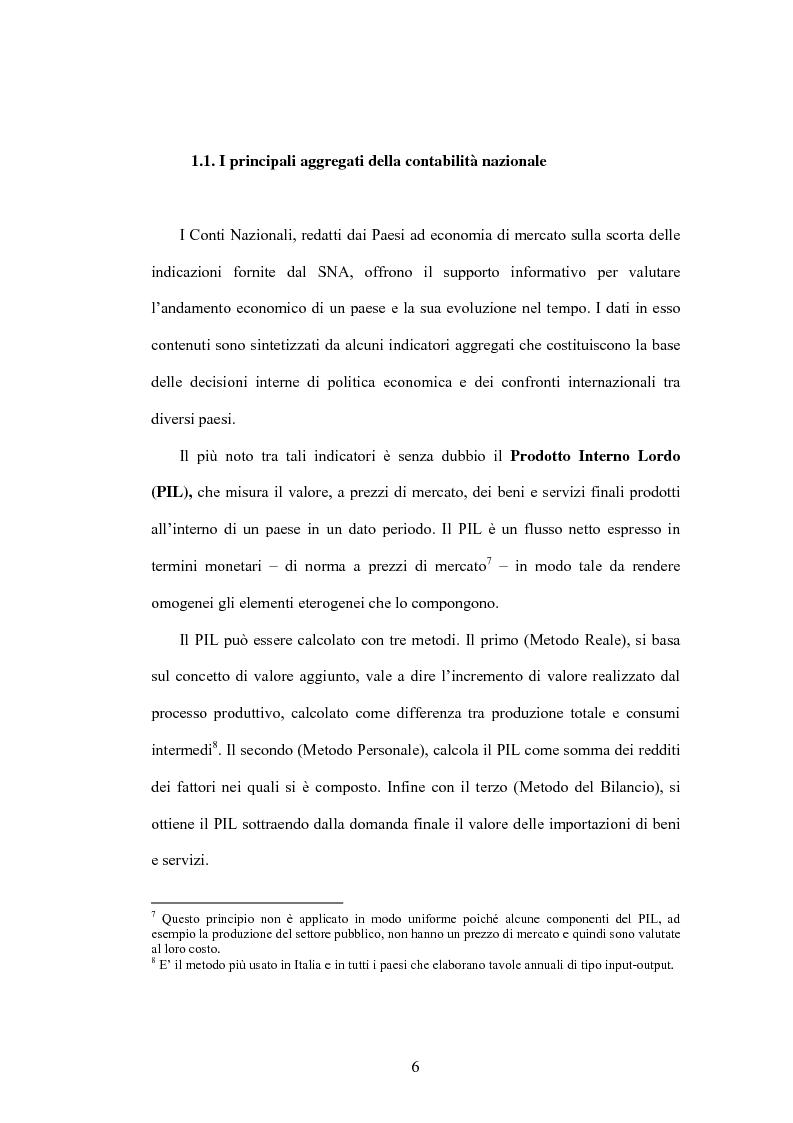 Anteprima della tesi: Lo sviluppo di un Conto Satellite del Turismo, Pagina 6