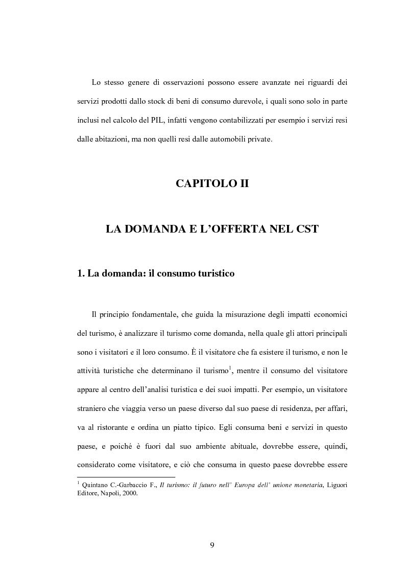 Anteprima della tesi: Lo sviluppo di un Conto Satellite del Turismo, Pagina 9