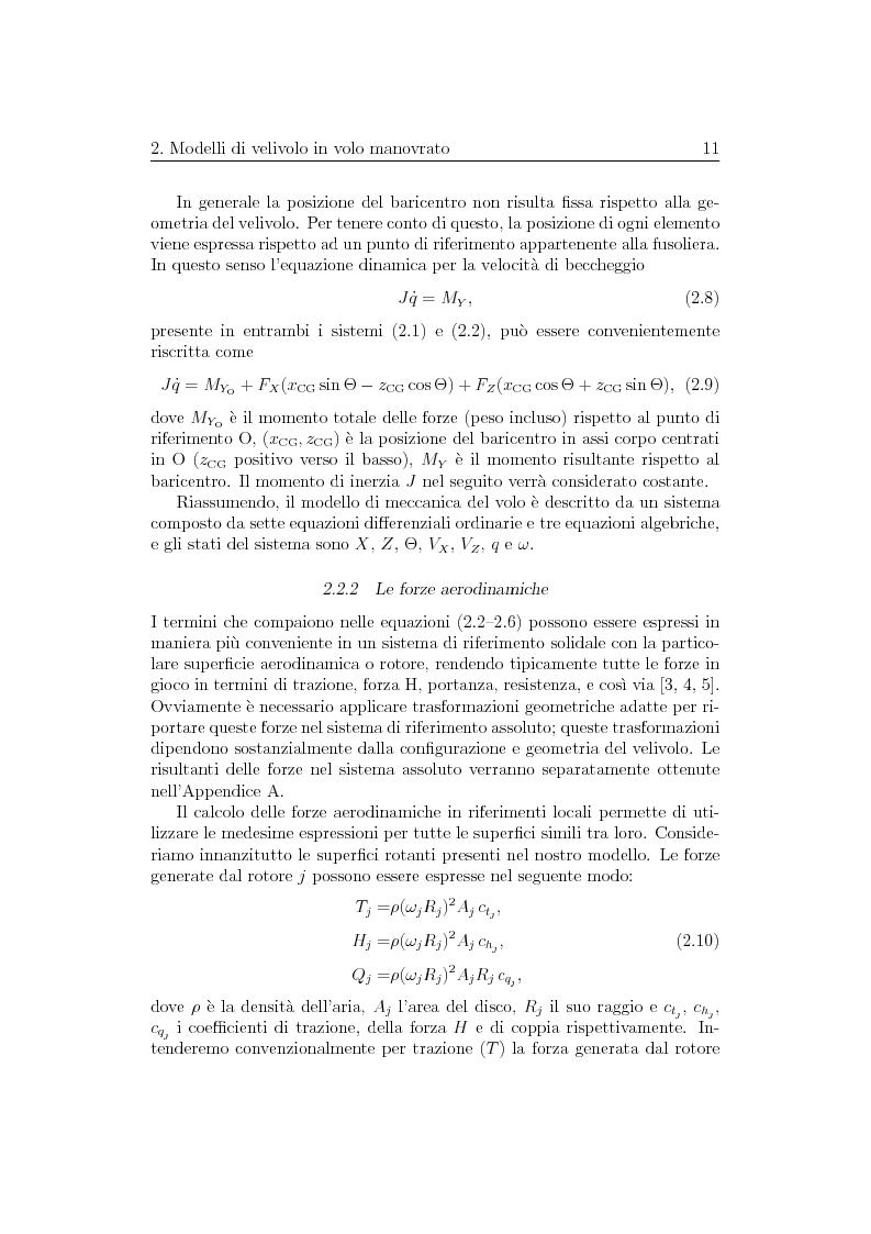 Anteprima della tesi: Ottimizzazione di Manovre per Velivoli ad Ala Rotante, Pagina 11