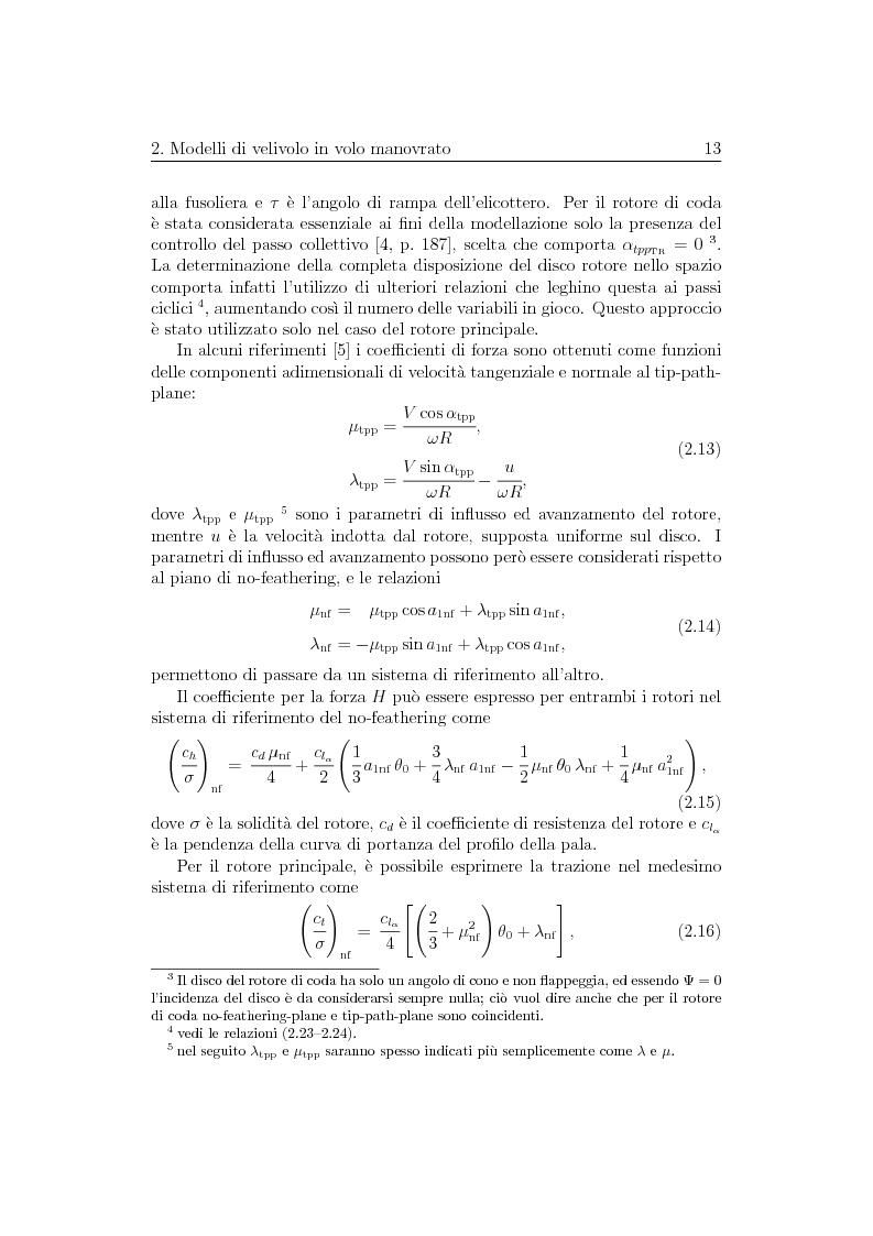 Anteprima della tesi: Ottimizzazione di Manovre per Velivoli ad Ala Rotante, Pagina 13