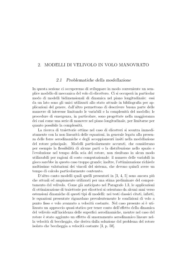 Anteprima della tesi: Ottimizzazione di Manovre per Velivoli ad Ala Rotante, Pagina 6