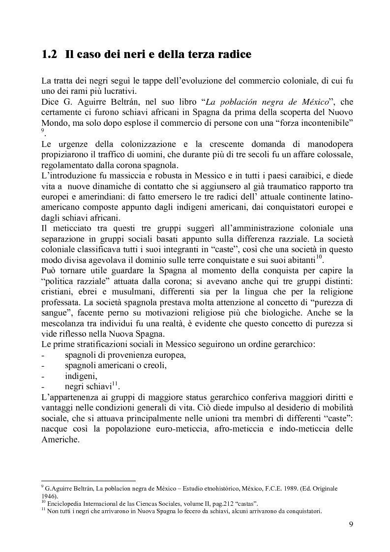 Anteprima della tesi: Identità e diritti delle minoranze etniche in Messico: la Costa Chica di Oaxaca e Guerrero, Pagina 5
