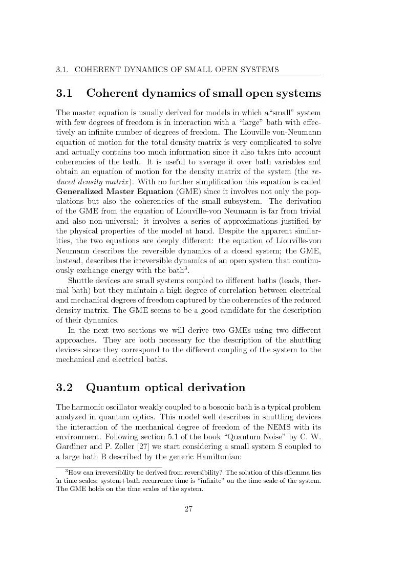 Anteprima della tesi: Dynamics of Shuttle Devices, Pagina 15