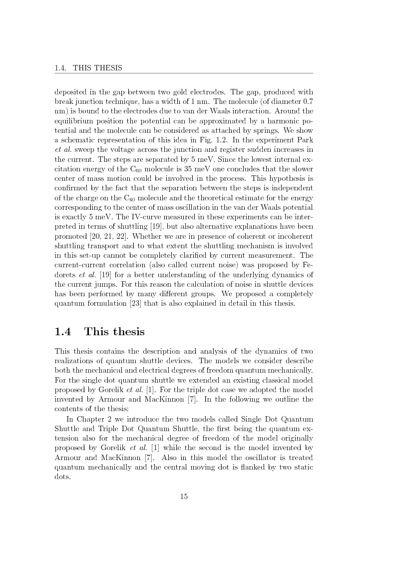 Anteprima della tesi: Dynamics of Shuttle Devices, Pagina 5