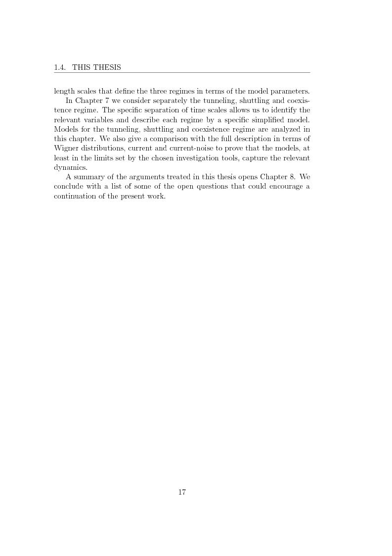 Anteprima della tesi: Dynamics of Shuttle Devices, Pagina 7