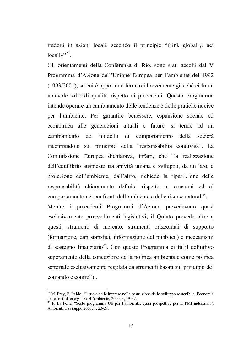 Anteprima della tesi: Studio sugli strumenti volontari di gestione ambientale: Analisi delle dichiarazioni ambientali EMAS relative a cicli di smaltimento dei rifiuti, Pagina 12