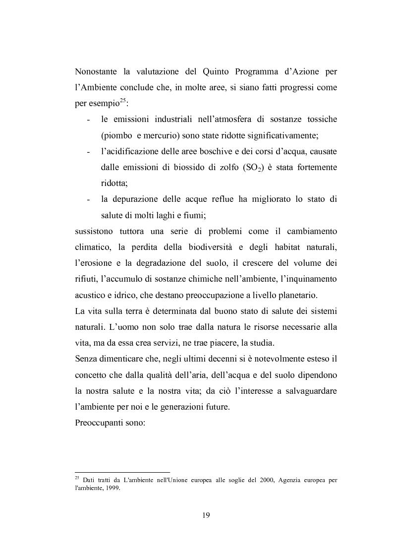 Anteprima della tesi: Studio sugli strumenti volontari di gestione ambientale: Analisi delle dichiarazioni ambientali EMAS relative a cicli di smaltimento dei rifiuti, Pagina 14