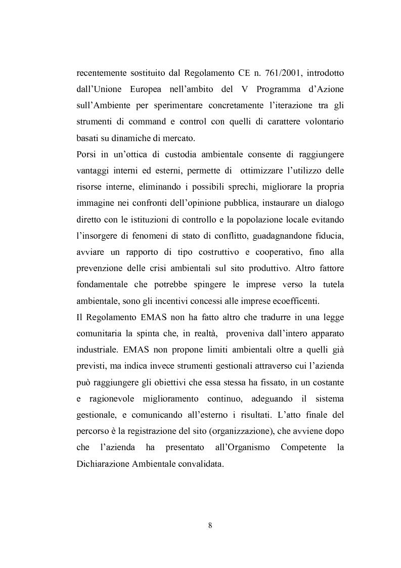 Anteprima della tesi: Studio sugli strumenti volontari di gestione ambientale: Analisi delle dichiarazioni ambientali EMAS relative a cicli di smaltimento dei rifiuti, Pagina 3