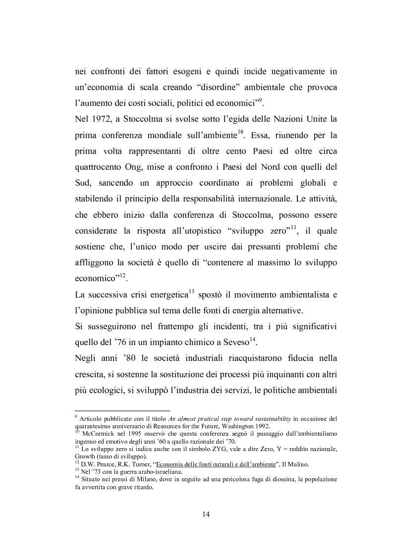 Anteprima della tesi: Studio sugli strumenti volontari di gestione ambientale: Analisi delle dichiarazioni ambientali EMAS relative a cicli di smaltimento dei rifiuti, Pagina 9