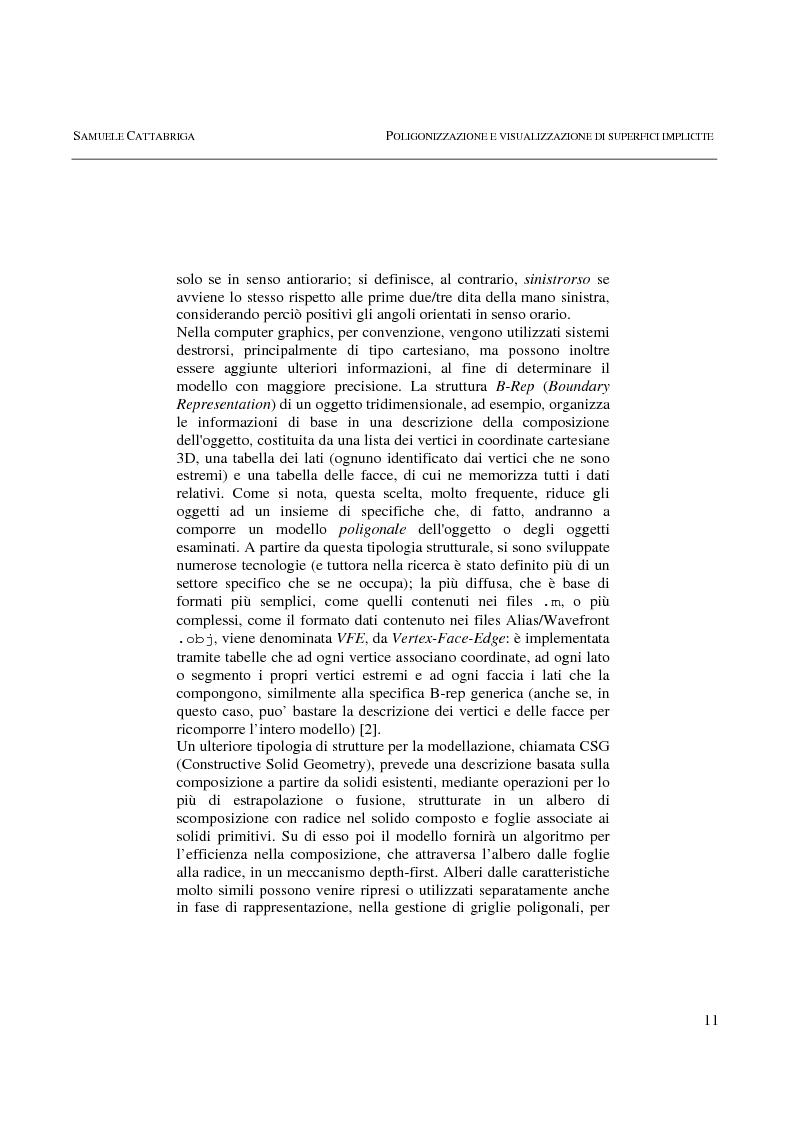 Anteprima della tesi: Poligonizzazione e Visualizzazione di Superfici Implicite, Pagina 8