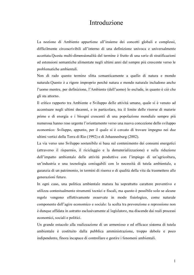 Anteprima della tesi: Il concetto di sostenibilità tra rio 1992 e johannesburg 2002, Pagina 1