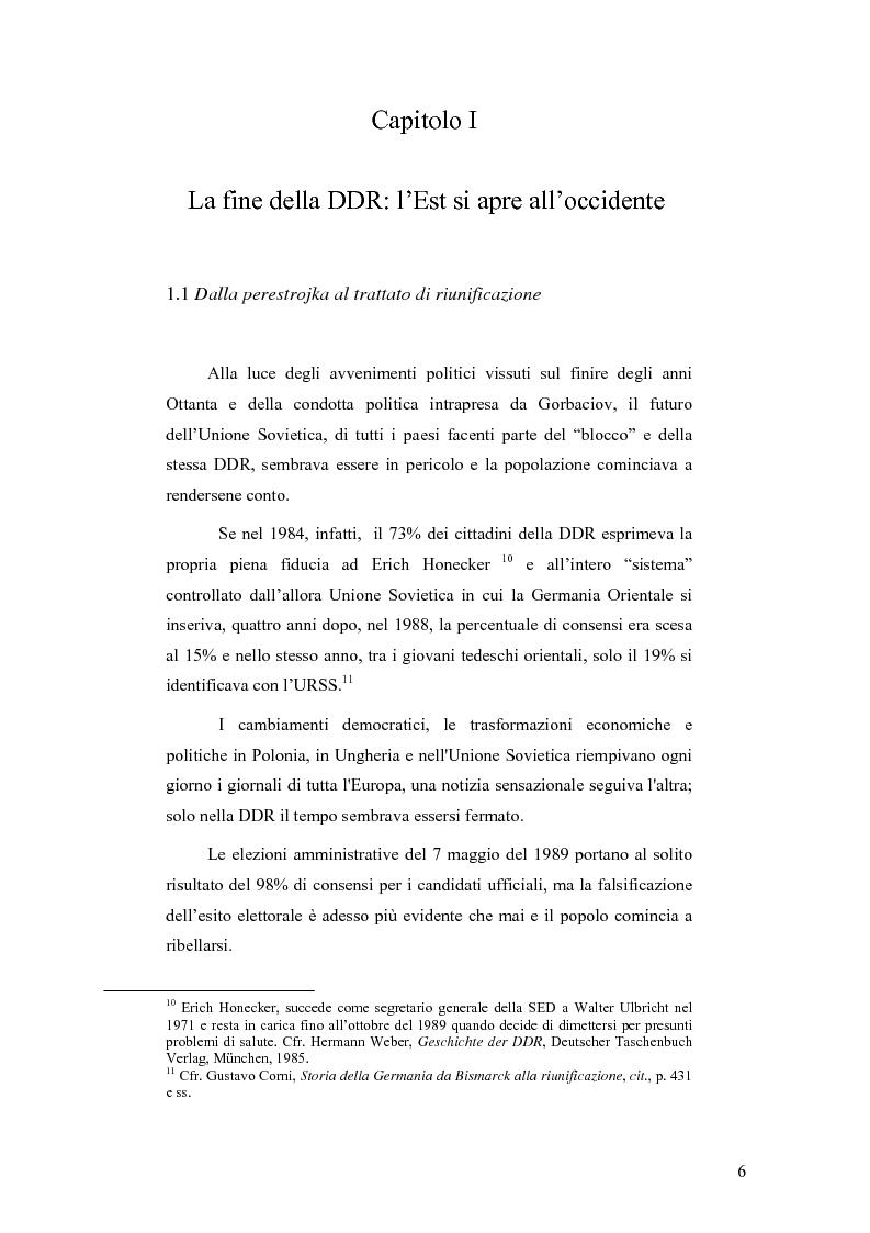 """Anteprima della tesi: """"Ostalgie"""": la riunificazione tedesca tra presente e passato, Pagina 6"""