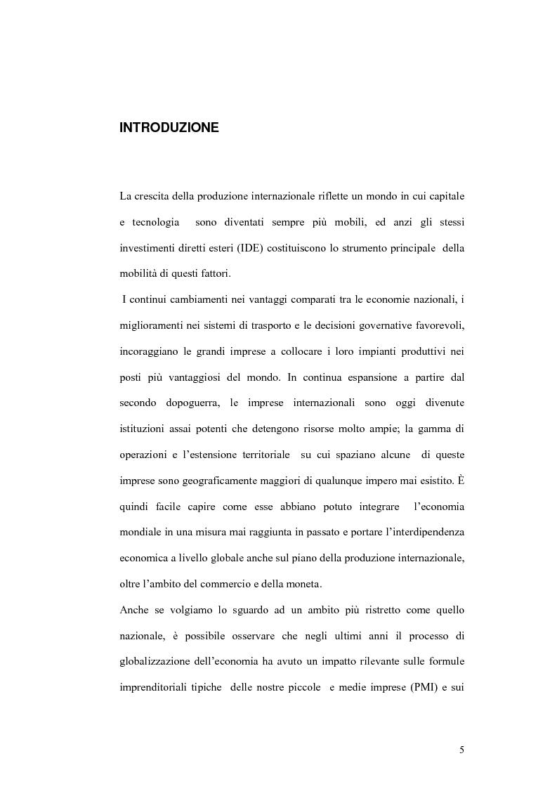 Anteprima della tesi: Il processo di localizzazione produttiva di un'impresa internazionale, Pagina 1
