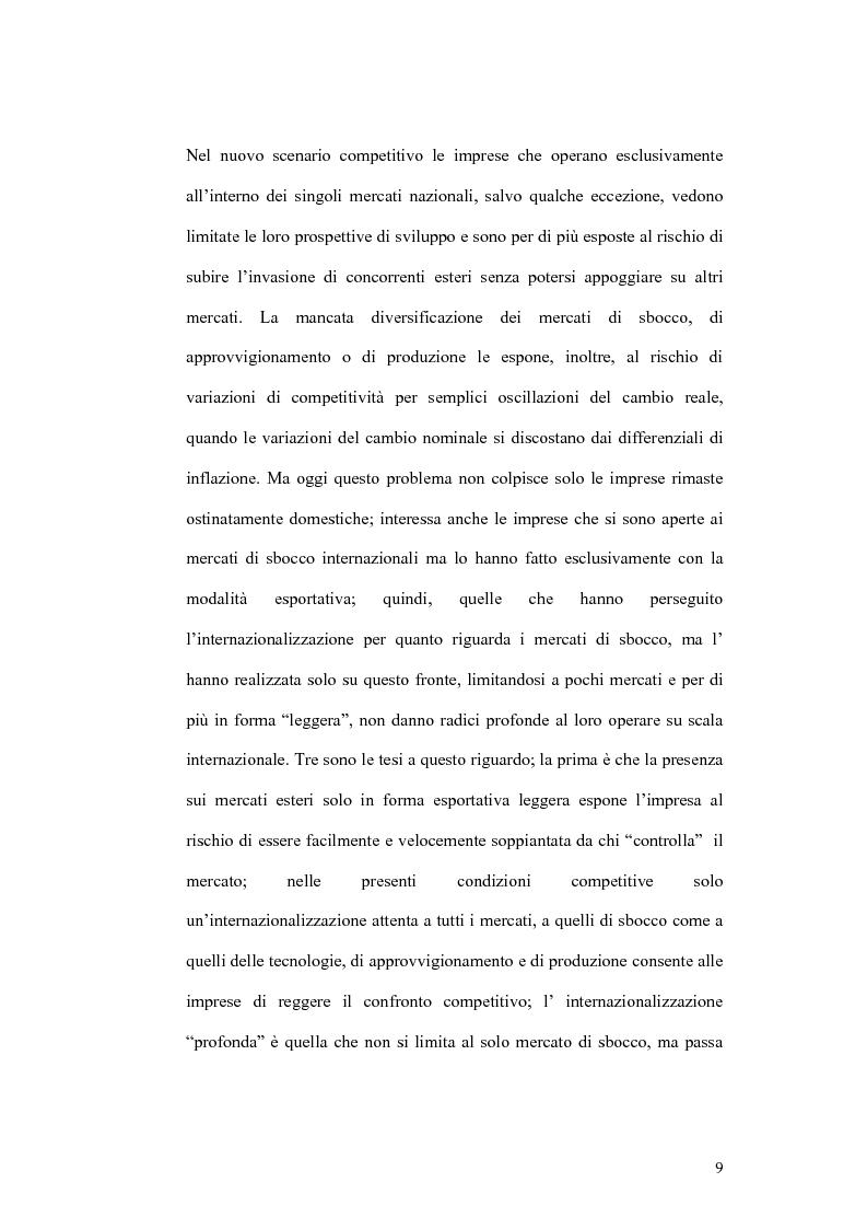 Anteprima della tesi: Il processo di localizzazione produttiva di un'impresa internazionale, Pagina 5