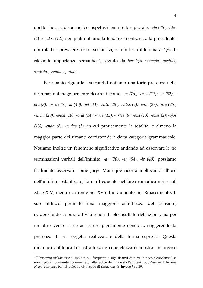 Anteprima della tesi: Rimario e lessico in rima delle poesie di Jorge Manrique, Pagina 10