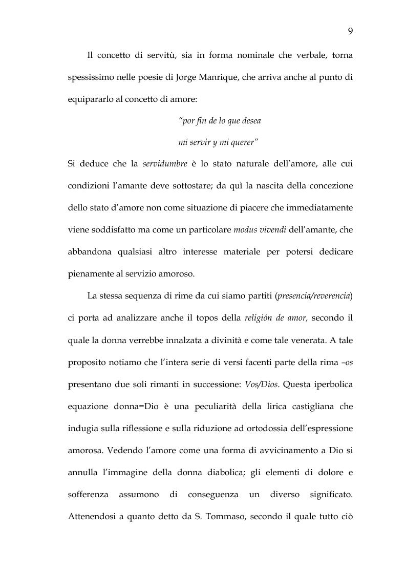 Anteprima della tesi: Rimario e lessico in rima delle poesie di Jorge Manrique, Pagina 15