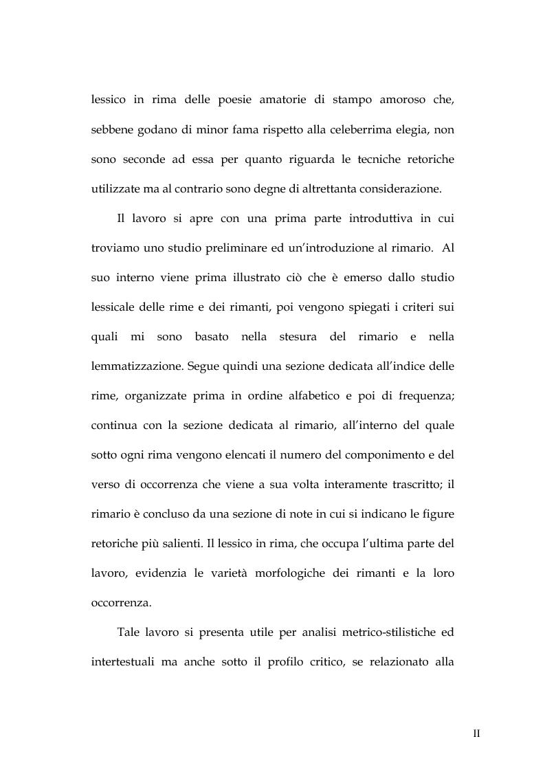 Anteprima della tesi: Rimario e lessico in rima delle poesie di Jorge Manrique, Pagina 2
