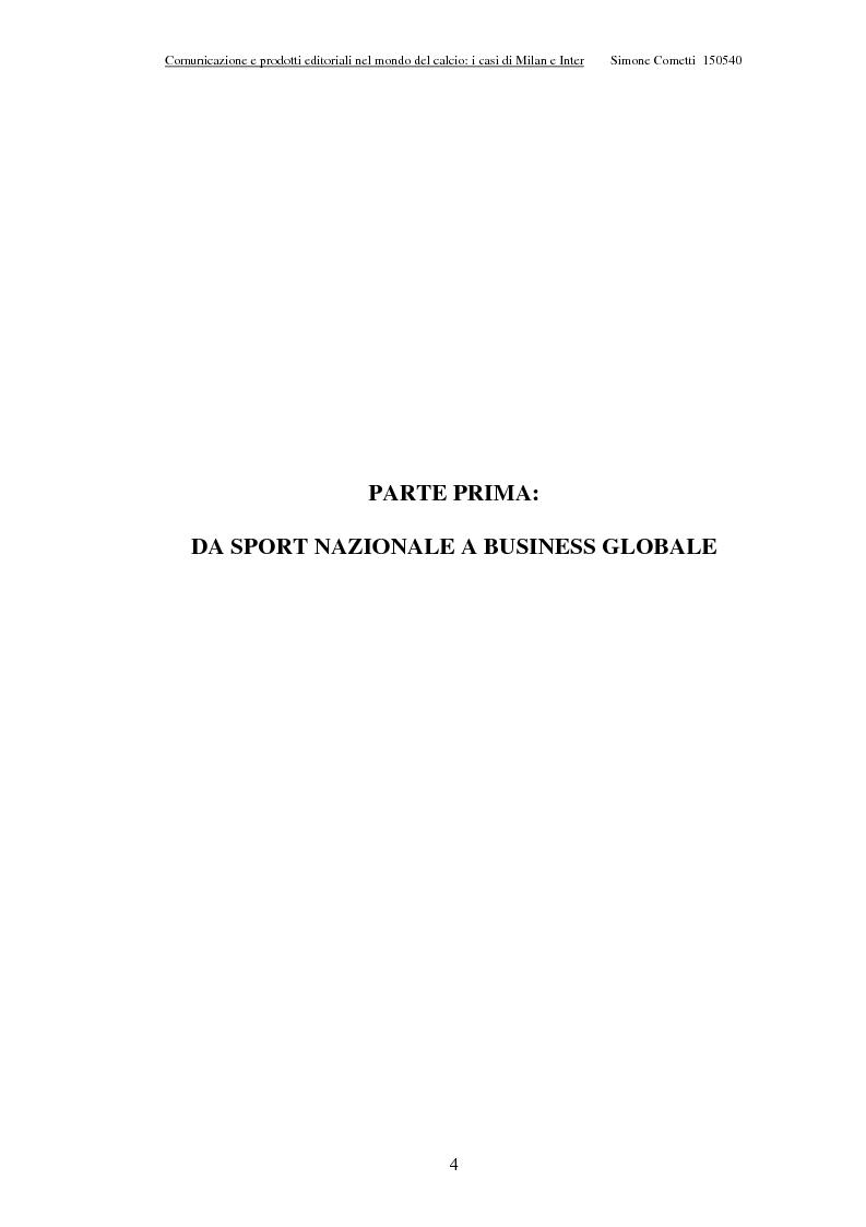 Anteprima della tesi: Comunicazione e prodotti editoriali nel mondo del calcio - I casi di Milan e Inter, Pagina 4