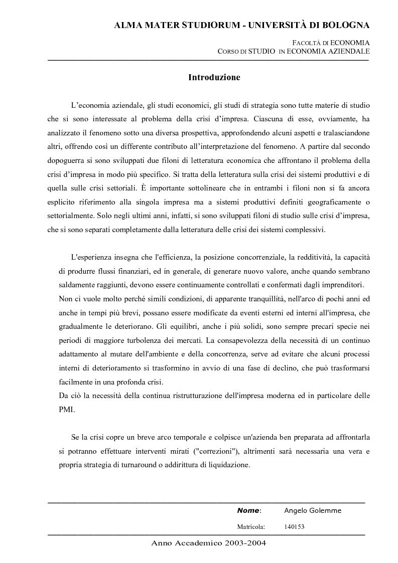 Anteprima della tesi: Business turnaround: il caso Ducati Motors, Pagina 1