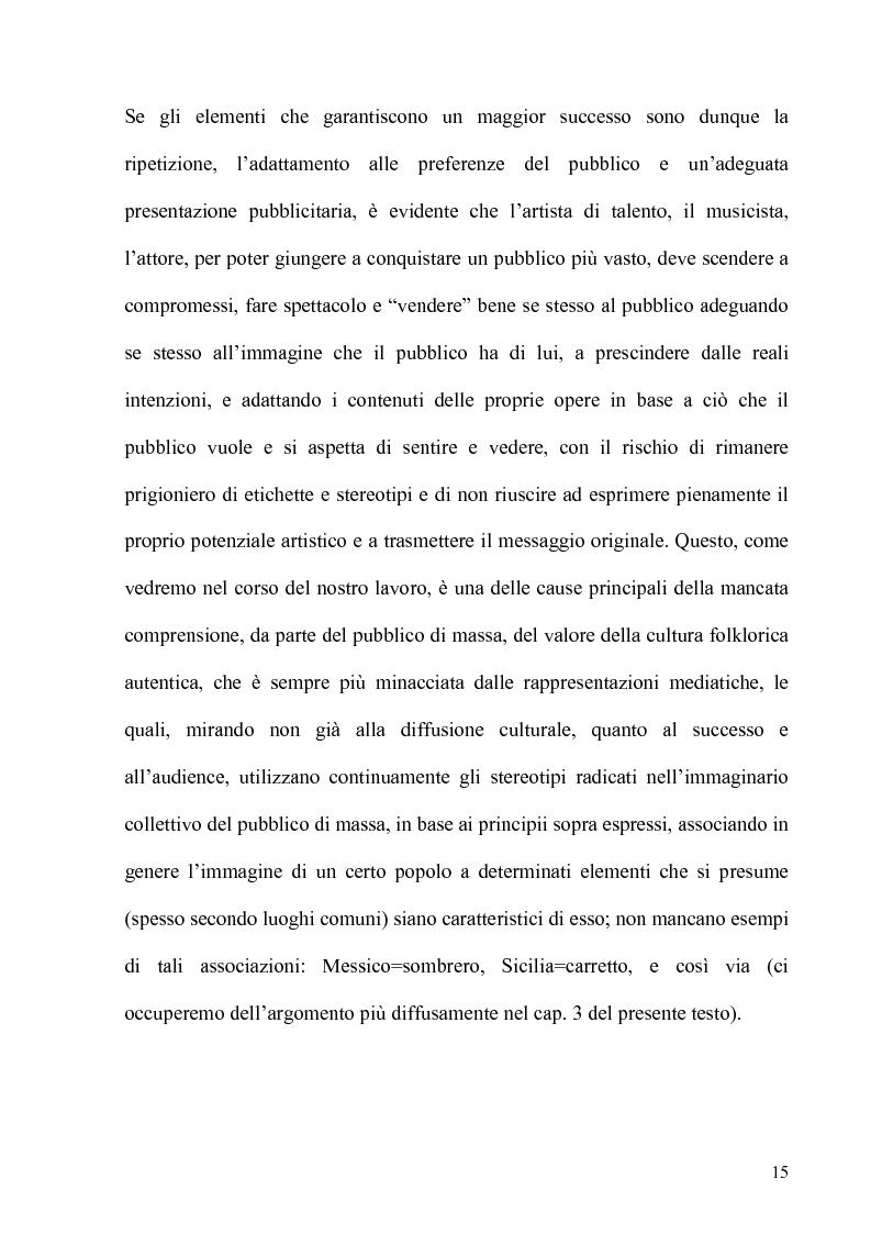Anteprima della tesi: Folklore turistico e di ricerca: uno studio sulla percezione della nostra Isola, Pagina 12