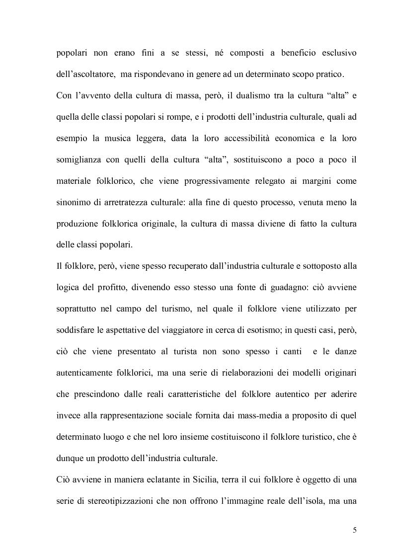 Anteprima della tesi: Folklore turistico e di ricerca: uno studio sulla percezione della nostra Isola, Pagina 2