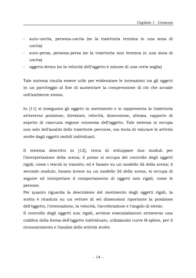 Anteprima della tesi: Analisi e Riconoscemento di traiettorie di oggetti mobili, Pagina 14