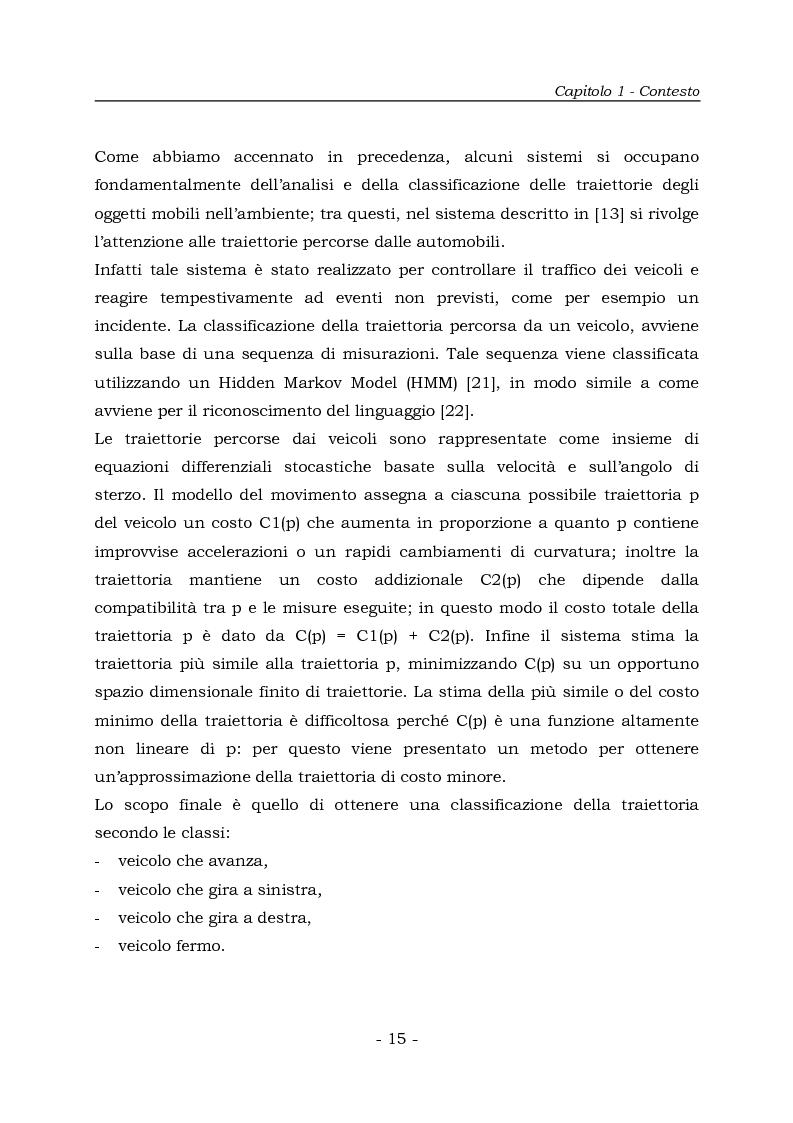 Anteprima della tesi: Analisi e Riconoscemento di traiettorie di oggetti mobili, Pagina 15