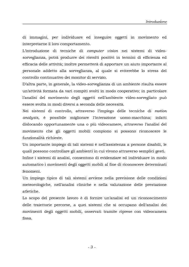 Anteprima della tesi: Analisi e Riconoscemento di traiettorie di oggetti mobili, Pagina 3