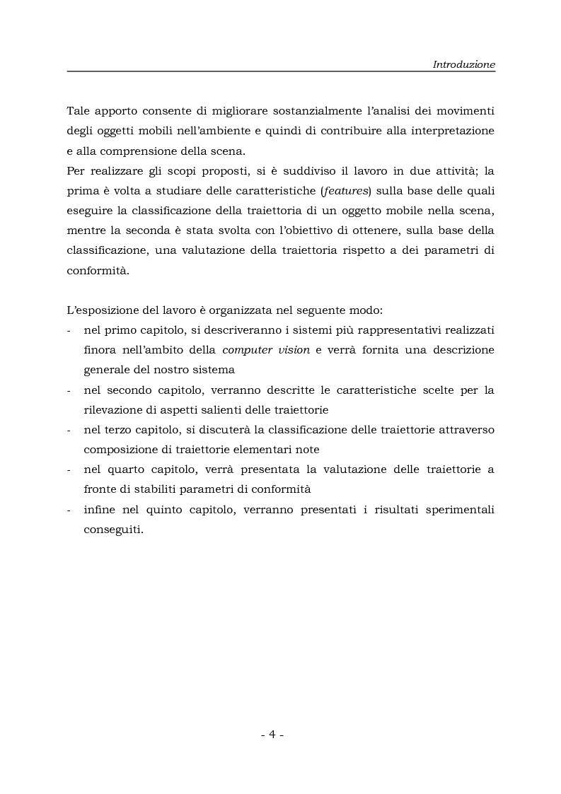 Anteprima della tesi: Analisi e Riconoscemento di traiettorie di oggetti mobili, Pagina 4