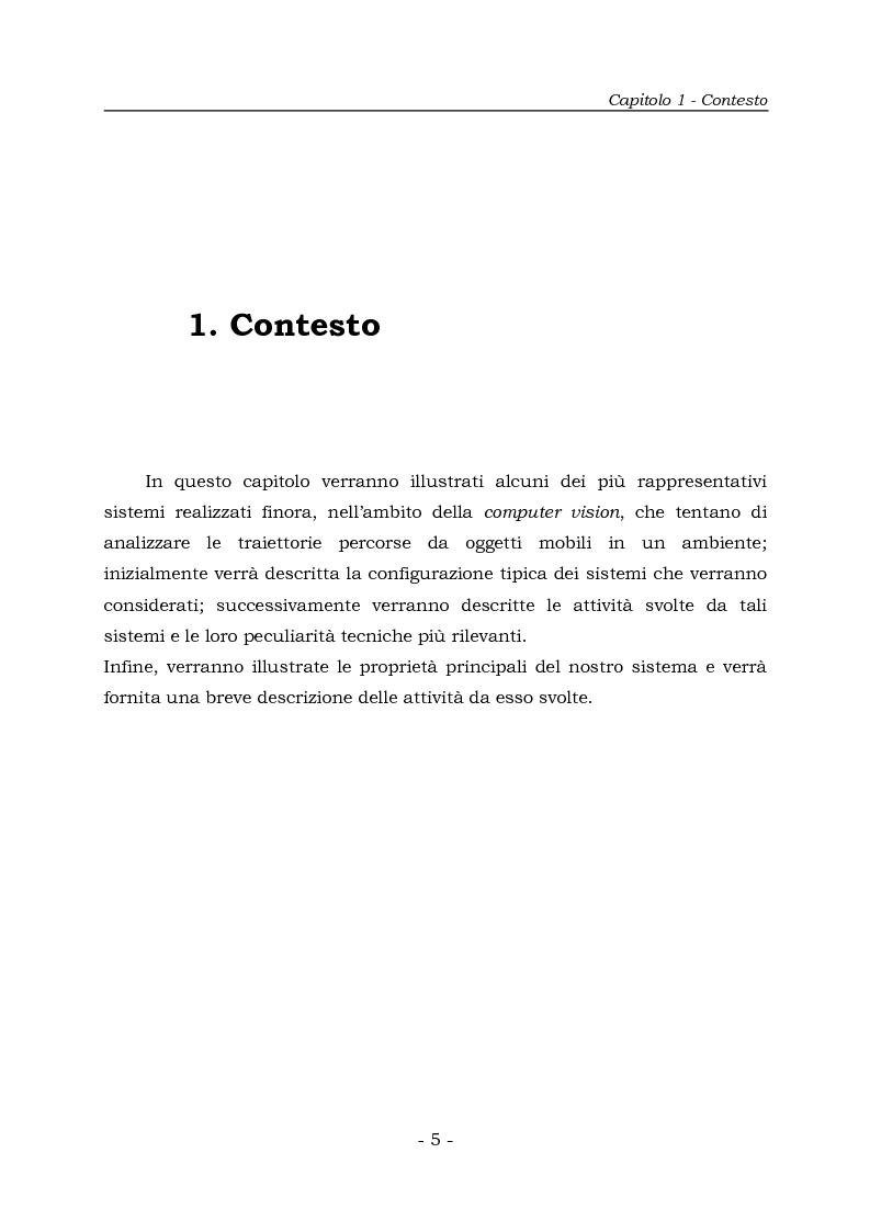Anteprima della tesi: Analisi e Riconoscemento di traiettorie di oggetti mobili, Pagina 5