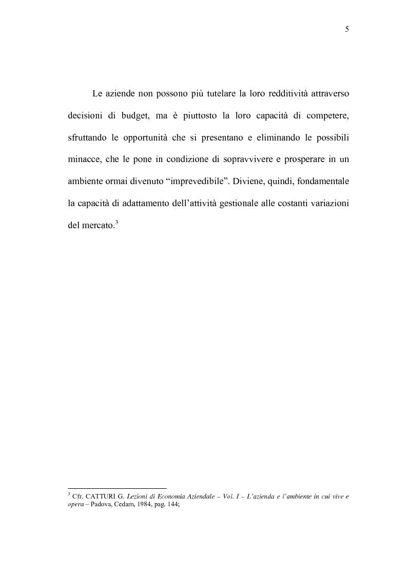Anteprima della tesi: Il Controlling Costs quale indispensabile strumento di efficienza gestionale dell'impresa moderna, Pagina 5