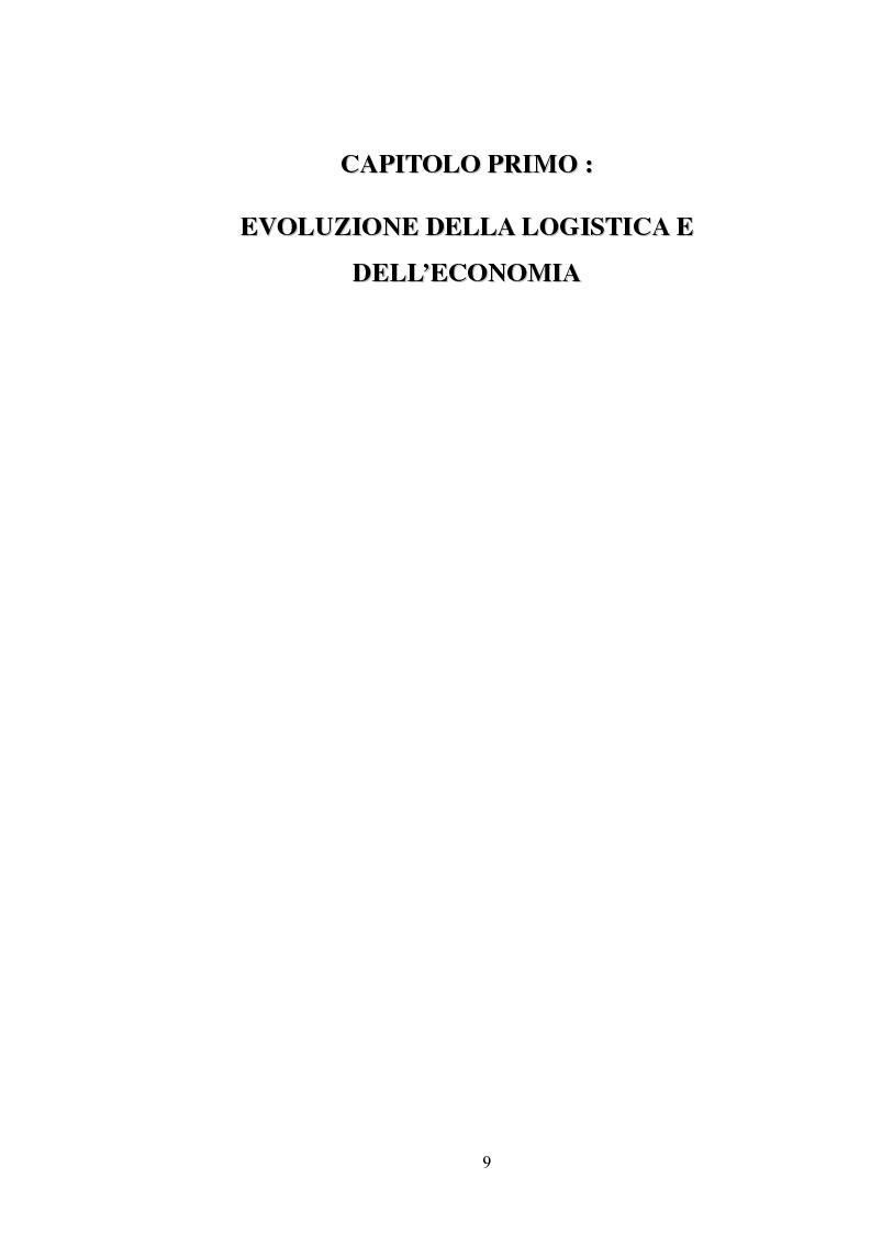 Anteprima della tesi: La logistica come fattore competitivo di sistema, Pagina 5