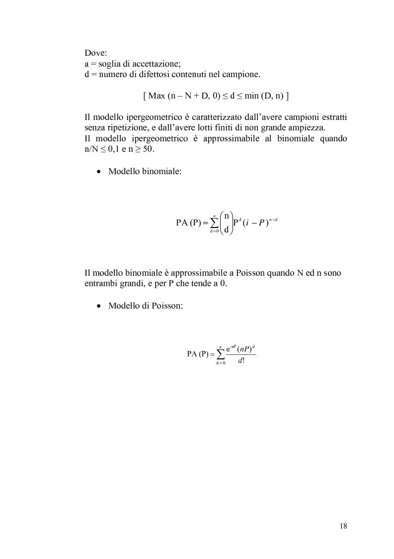 """Anteprima della tesi: Il controllo statistico di qualità - il caso """"So.Ge.Co."""", Pagina 12"""