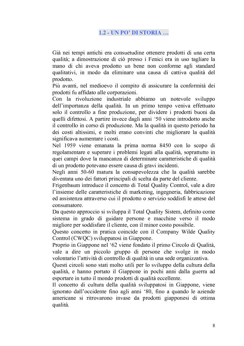 """Anteprima della tesi: Il controllo statistico di qualità - il caso """"So.Ge.Co."""", Pagina 2"""
