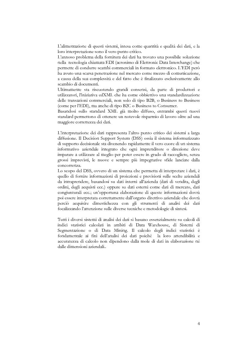 Anteprima della tesi: Progettazione di un modello ''OLAP Multidimensionale'' in un sistema di ''DATA Warehouse'', Pagina 2