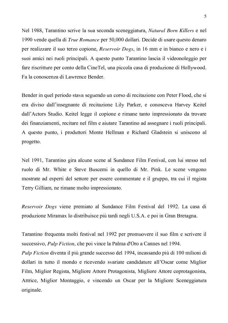 Anteprima della tesi: Quentin Tarantino, sceneggiatore: un caso anomalo nello studio system hollywoodiano, Pagina 2