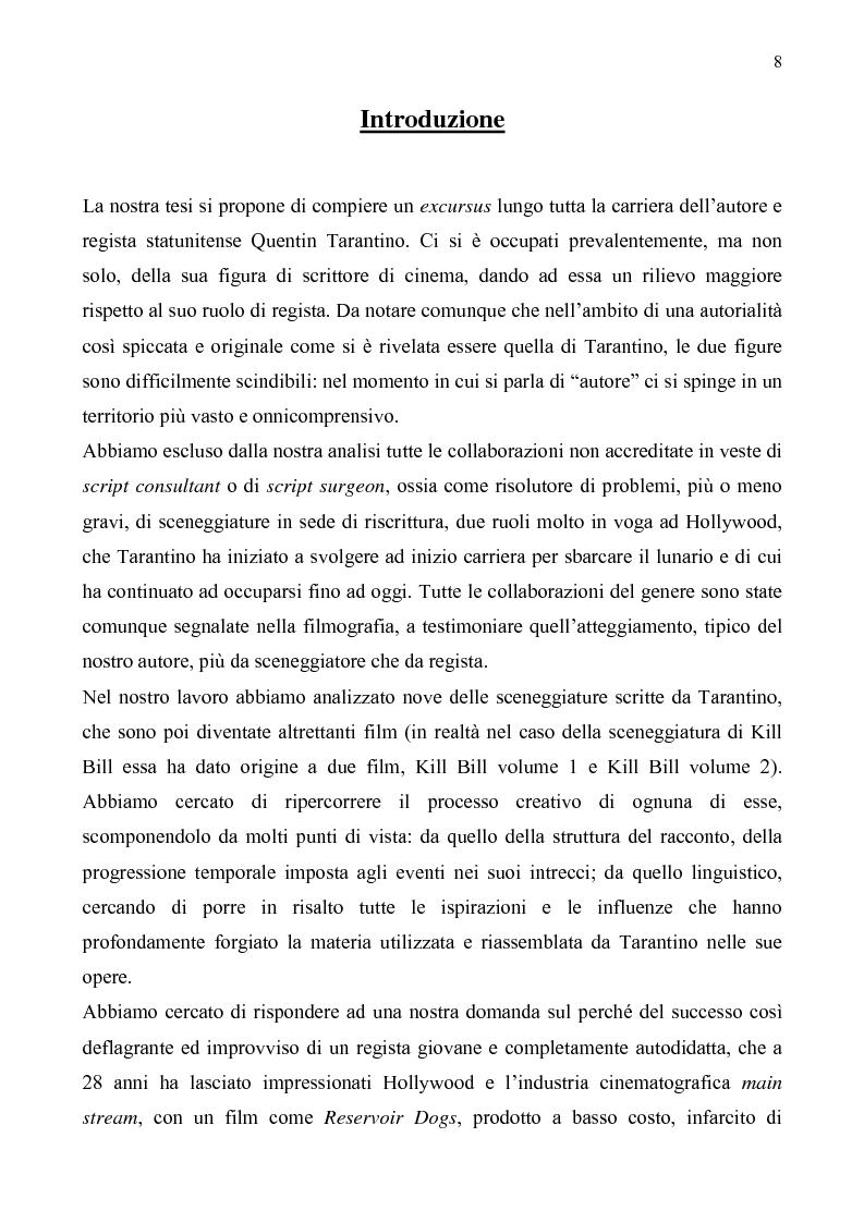 Anteprima della tesi: Quentin Tarantino, sceneggiatore: un caso anomalo nello studio system hollywoodiano, Pagina 5